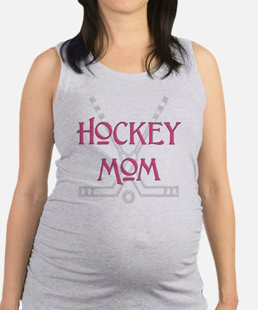 HockeyMomSticksPink.png Maternity Tank Top