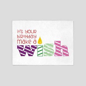 Birthday Wish 5'x7'Area Rug
