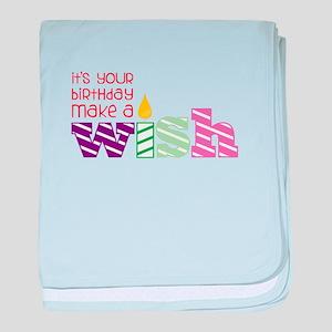 Birthday Wish baby blanket