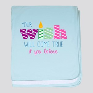 Candle Believe baby blanket