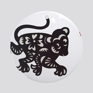 Taiwan Monkey Zodiac Round Ornament