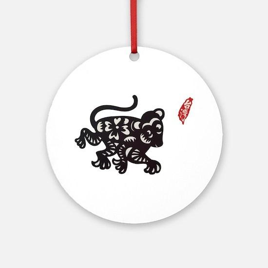 Taiwan Monkey Zodiac Round Ornament