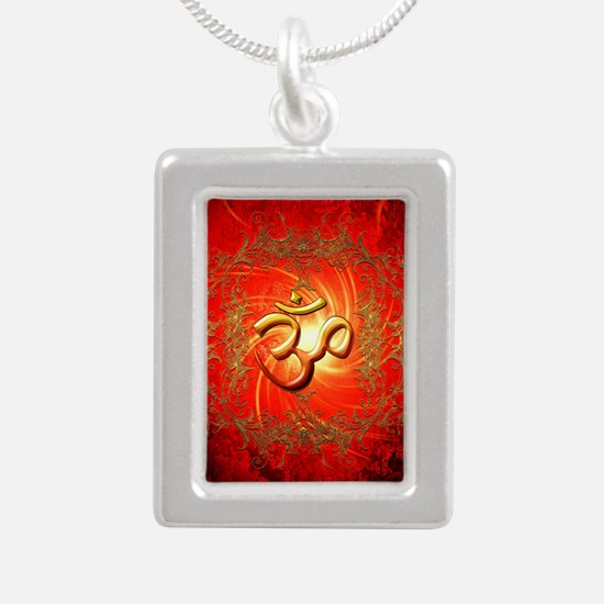 Om sign in gold,red Necklaces