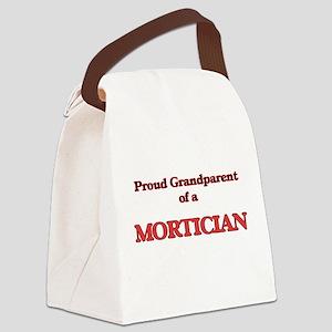 Proud Grandparent of a Mortician Canvas Lunch Bag