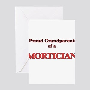 Proud Grandparent of a Mortician Greeting Cards