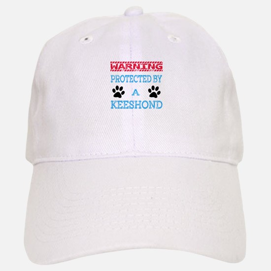 Warning Protected by a Keeshond Baseball Baseball Cap