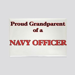 Proud Grandparent of a Navy Officer Magnets