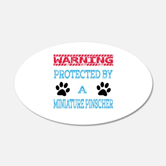 Warning Protected by a Minia Wall Decal