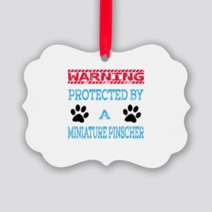 Warning Protected by a Miniature Picture Ornament