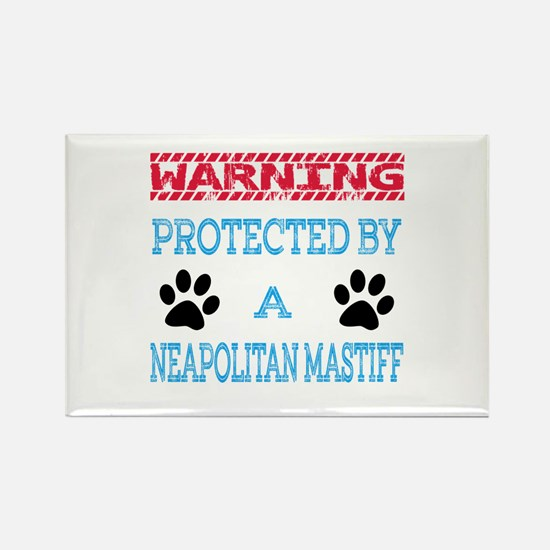 Warning Protected by a Rectangle Magnet (100 pack)