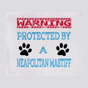 Warning Protected by a Neapolitan Ma Throw Blanket