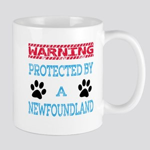 Warning Protected by a Newfoundland Mug
