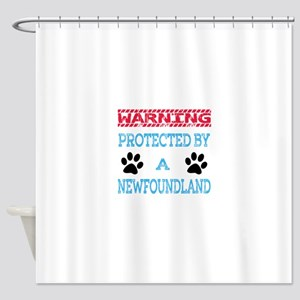 Warning Protected by a Newfoundland Shower Curtain