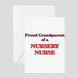 Proud Grandparent of a Nursery Nurs Greeting Cards