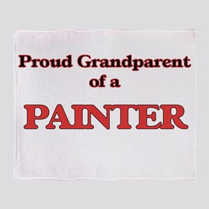 Proud Grandparent of a Painter Throw Blanket
