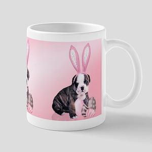 Easter Bulldog Puppy In Bunny Ears, Gift Mug Mugs