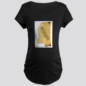Parchment Background Mississippi Maternity T-Shirt