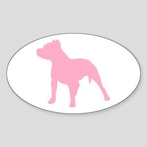 Pitbull Pink 1C Sticker