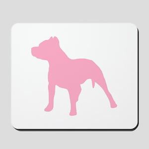 Pitbull Pink 1C Mousepad