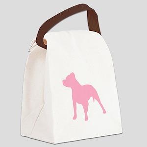 Pitbull Pink 1C Canvas Lunch Bag