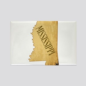 Parchment Background Mississippi Map Magnets