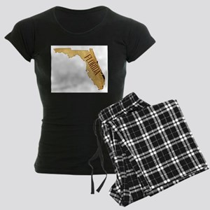 Parchment Background With Florida Map Pajamas