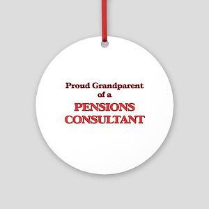 Proud Grandparent of a Pensions Con Round Ornament