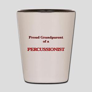 Proud Grandparent of a Percussionist Shot Glass