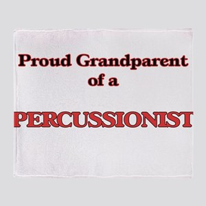 Proud Grandparent of a Percussionist Throw Blanket