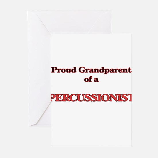Proud Grandparent of a Percussionis Greeting Cards