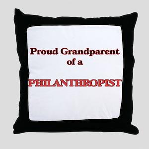 Proud Grandparent of a Philanthropist Throw Pillow