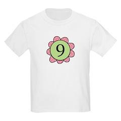Nine pink/green flower T-Shirt