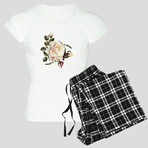 Beautiful Victorian Roses Women's Light Pajamas