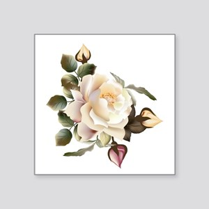 "Beautiful Victorian Roses Square Sticker 3"" x 3"""