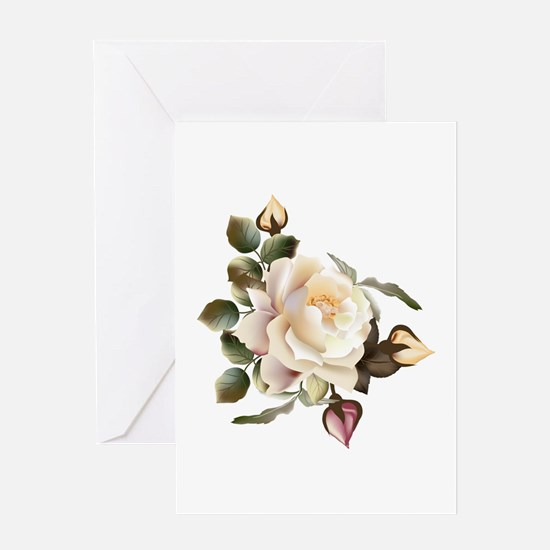 Beautiful Victorian Roses Greeting Card
