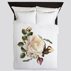 Beautiful Victorian Roses Queen Duvet