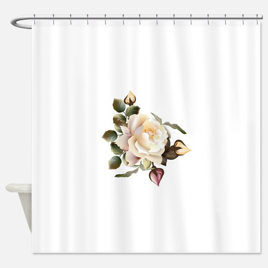 Beautiful Victorian Roses Shower Curtain