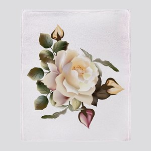 Beautiful Victorian Roses Throw Blanket