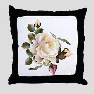 Beautiful Victorian Roses Throw Pillow