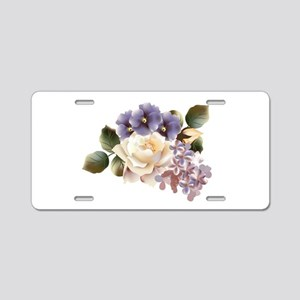 Beautiful Victorian Roses Aluminum License Plate