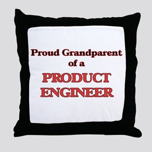 Proud Grandparent of a Product Engine Throw Pillow