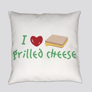 Grilled Cheese Heart Everyday Pillow