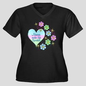 Nieces Make Life Sparkle Plus Size T-Shirt