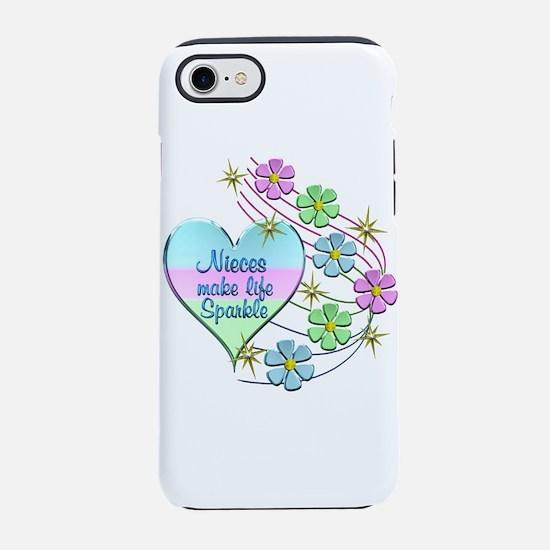 Nieces Make Life Sparkle iPhone 8/7 Tough Case