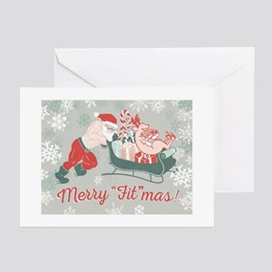 Crossfit Holiday Christmas Card - Merry Fitmas San