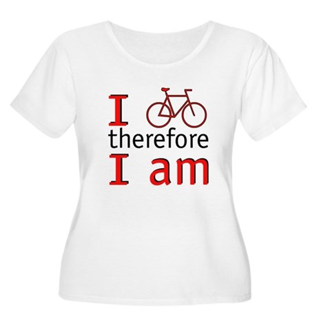 I Bike Therefore I Am Women's Plus Size Scoop Neck