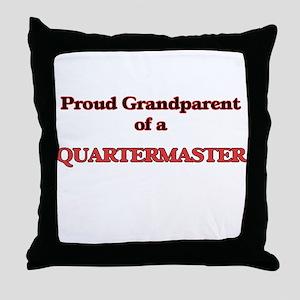 Proud Grandparent of a Quartermaster Throw Pillow