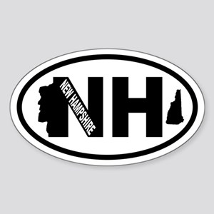 New Hampshire Old Man Oval Sticker