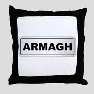 Armagh City Nameplate Throw Pillow