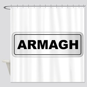Armagh City Nameplate Shower Curtain